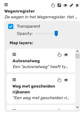 Open Maps map attributes